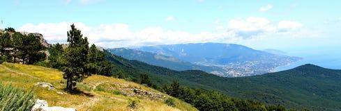 ai miasta halny Petri widok Yalta Obraz Royalty Free