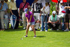 Ai Miyazato gets ready to hit at LPGA Malaysia Royalty Free Stock Images