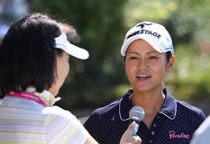 Ai Miyazato på golf Evian styrer 2012 arkivbilder
