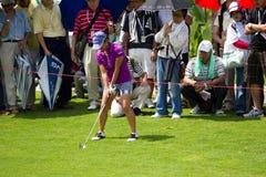 Ai Miyazato wird fertig, an LPGA Malaysia zu schlagen Lizenzfreie Stockbilder