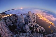 AI-Pétri Nuit, pleine lune Photographie stock libre de droits