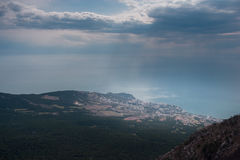 Ai-petri Krim landskap royaltyfria bilder