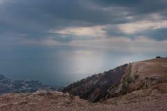 Ai-petri Krim landskap royaltyfri foto