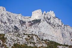 AI-Petri mountain. Beautiful landscape - AI-Petri mountain in Alupka, Yalta, Crimea stock images