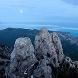 Ai-Petri mountain at night. Crimea, Ukraine stock photos
