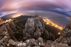 Ai-Petri. Night, Full Moon. (Crimea Stock Images