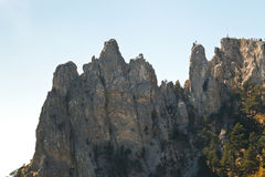 Ai-Petri rocks in Crimean mountains Royalty Free Stock Photos