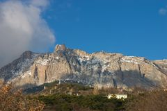 Ai-Petry mountain at winter. Crimea Royalty Free Stock Photos
