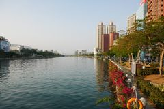 Ai río él o del amor en Gaoxiong Fotos de archivo