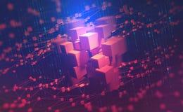 ai Redes neurais e inteligência artificial Conceito do Cyberspace ilustração royalty free