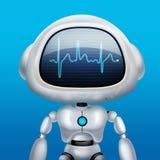 AI robot Gadka robot Opowiada? robot Portret grafika Poj?cie sztuka ilustracji