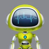 AI robot Gadka robot Opowiada? robot Portret grafika Poj?cie sztuka ilustracja wektor
