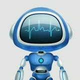 AI robot Gadka robot Opowiada? robot Portret grafika Poj?cie sztuka royalty ilustracja