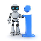 AI and symbol information Royalty Free Stock Image