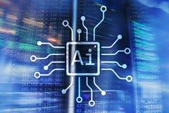 AI, Sztuczna inteligencja, automatyzacja i nowożytny technologie informacyjne pojęcie na wirtualnym ekranie, zdjęcie royalty free