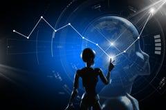 AI, Sztuczna inteligencja konceptualna kolejnego pokolenia techno zdjęcie stock