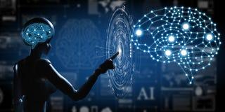 AI, Sztuczna inteligencja konceptualna kolejnego pokolenia techno obraz royalty free