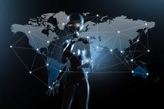 AI, Sztuczna inteligencja konceptualna kolejnego pokolenia techno obrazy stock