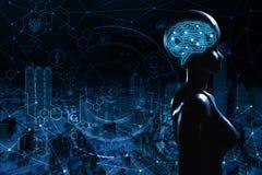 AI, Sztuczna inteligencja konceptualna kolejnego pokolenia techno zdjęcie royalty free
