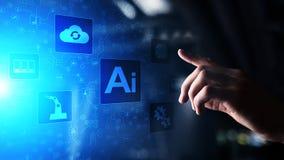 AI Sztuczna inteligencja, Maszynowy uczenie, Duża dane analiza i automatyzacji technologia w przemysłowej produkcji, obrazy royalty free
