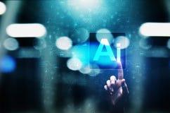 AI Sztuczna inteligencja, Maszynowy uczenie, Duża dane analiza i automatyzacji technologia w przemysłowej produkcji, zdjęcie stock