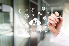 AI, sztuczna inteligencja w nowożytnej medycznej technologii, IOT i automatyzacja zdjęcie royalty free
