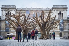 Ai Wei Wei's Tree at the Royal Academy of Arts Stock Photography