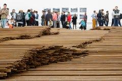 Ai Weiwei - em linha reta Fotos de Stock Royalty Free