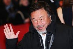 Ai Weiwei pozy na czerwonym chodniku Obrazy Stock