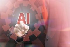 AI Wskazuje pojęcie Obrazy Stock