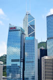 AIA Buduje Hong Kong Obrazy Royalty Free