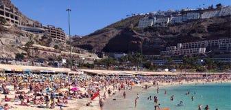 Aiagaures plaża w Uroczystym Canaria Obraz Stock