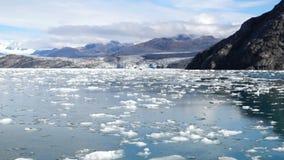 Aialik Glacier Ice Flow Pacific Ocean Alaska Coast Kenai Fjords stock video