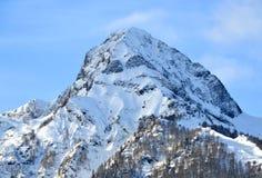 Aibga grań, Czarny ostrosłupa szczyt Fotografia Royalty Free