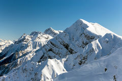 Aibga grań Halny Kamennyy stolb 2509m 2014 2018 filiżanki gier olimpijski Russia Sochi zima świat Obraz Royalty Free