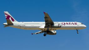 A7-AIC Qatar Airways, Airbus A321-200 Stockfotografie