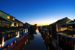 Aicent-Stadt von Jiangsu China, shaxi stockbild