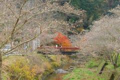 AICHI, - NOV 22: Piękny krajobraz w jesieni przy Obara, na Nov Zdjęcia Stock