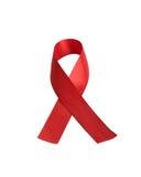 Aid awareness red ribbon Stock Photo
