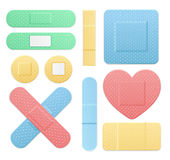 Aid Band Plaster Medical Patch Color Set. Vector. Aid Band Plaster Medical Patch Color Set. Different Types Web Design Element Vector illustration Royalty Free Stock Image