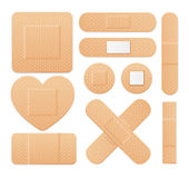 Aid Band Plaster Strip Medical Patch Set. Vector. Aid Band Plaster Strip Medical Patch Set. Different Types. Vector illustration Stock Photo