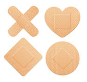 Aid Band Plaster Strip Medical Patch Set. Vector. Illustration Stock Photo