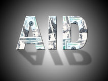 Aid Dollars Represents Answer Cash And Volunteer Stock Image