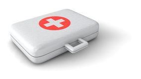 A Aid Kit. Has an important role in the rescue of people hurt in road traffic Royalty Free Stock Images