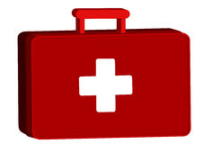 Aid kit with medicine Royalty Free Stock Image
