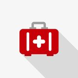 Aid kit vector icon. Color illustration aid kit vector icon Stock Photos