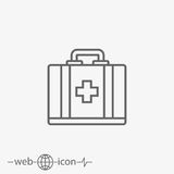 Aid kit vector icon Stock Photography