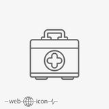 Aid kit vector icon Stock Images