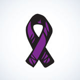 Aid ribbon logo. Vector drawing. Logo of overdose, migraine, lupus, cystic fibrosis, childhood hemiplegia Stock Photo