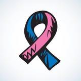 Aid ribbon logo. Vector drawing Royalty Free Stock Photo